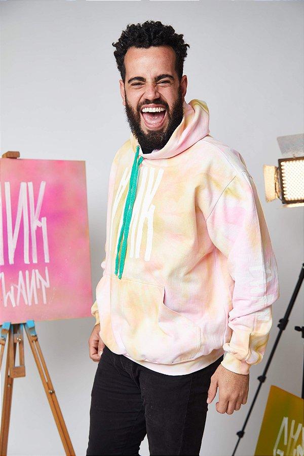 Moletom O Navarro Pink Plant Tie Die (Tam:P)