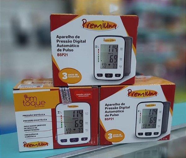 38df67e0a Aparelho de Pressão Digital de Pulso BPS 21 - Premium - Econômica ...