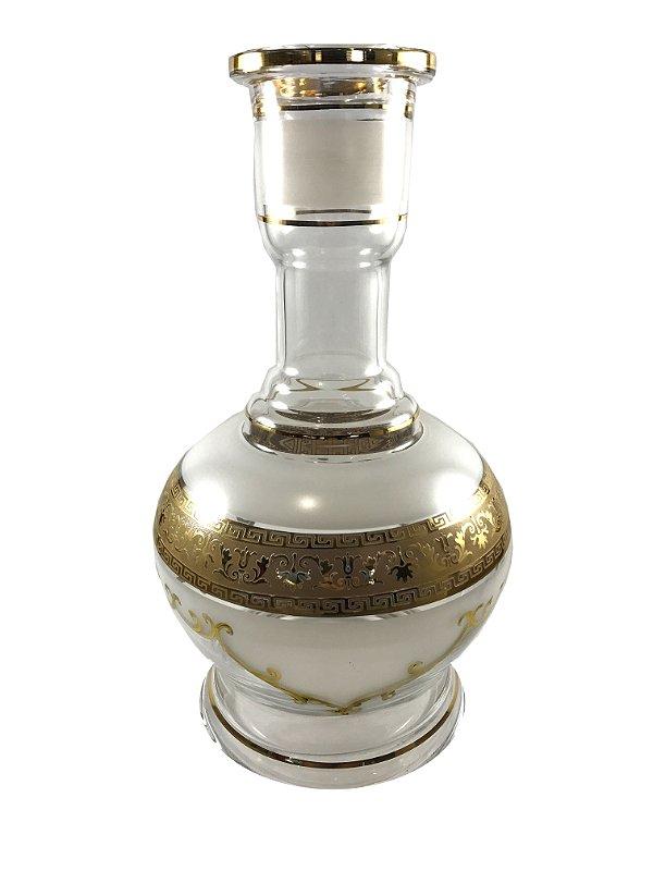 Vaso Star Hookah Jumbo Details Clear/White 30cm