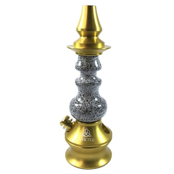 Stem Narguile Invictus Star - Dourado/Granito Branco