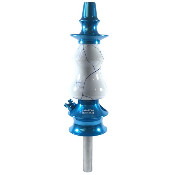 Stem Narguile Amazon Hookah Prime - Azul/Onix Branco-Azul