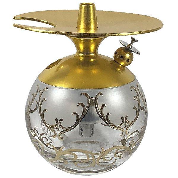 Narguile LittleSorr Egermann Lote 7 - Dourado/Transparente