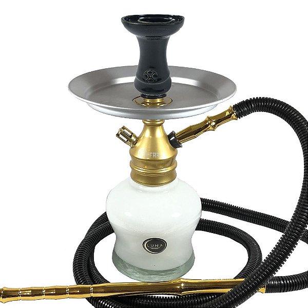 Kit Narguile Completo Al Farid Top Dourado Branco Preto - KIT063