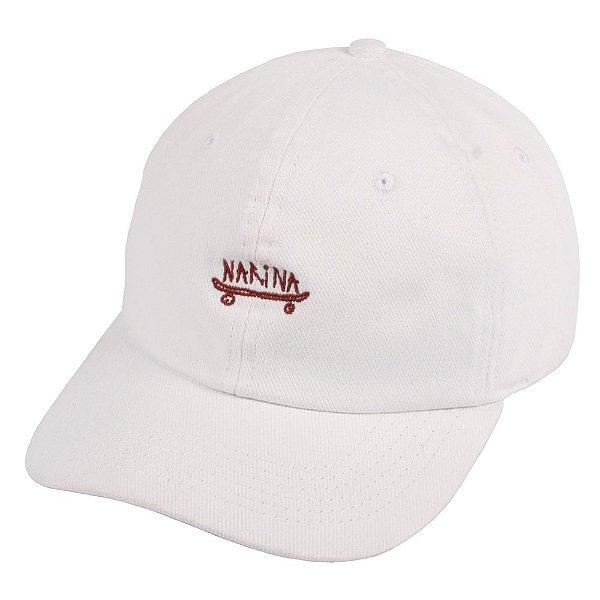 Boné Narina Dad Hat Aba Curva Skate WHITE Strapback - JD Skate Shop 7e309da9a85
