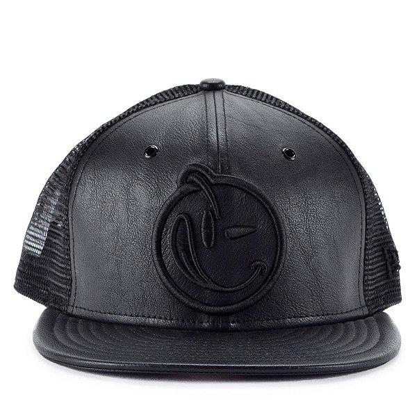 Boné New Era 9fifty Strapback Yums Black Leather Preto Ymv15 - JD ... 0309b2cb900
