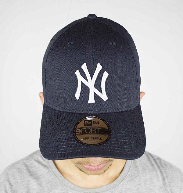 BONÉ NEW ERA ABA CURVA MLB NY YANKEES - azul - JD Skate Shop 0f1dbb9f3fede