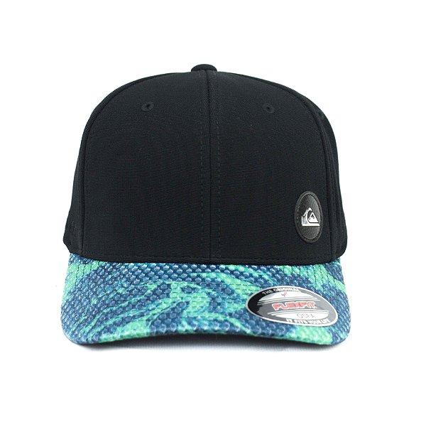 74a9084508e74 BONÉ QUIKSILVER FECHADO PATCH REFLECTIVE - GREEN BLACK - JD Skate Shop