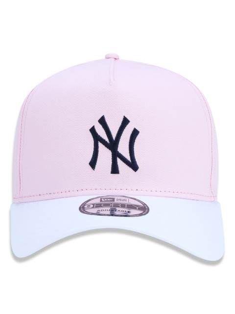 d6763d981 BONÉ NEW ERA YANKEES MLB ROUNDED B - ROSA - JD Skate Shop