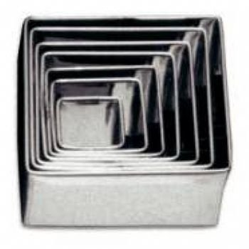 Jogo de cortadores em aço inoxidável quadrado liso / 7 peças