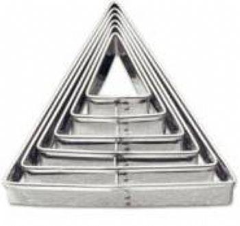 Triângulo liso / 6 peças
