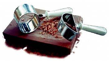 Raspador de chocolate meia lua inox