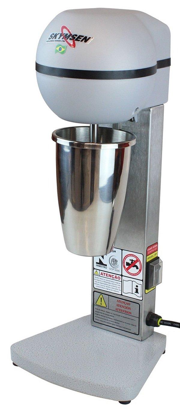 Batedeira de milk shake, em inox, 1 haste /copo 800ml (440736)