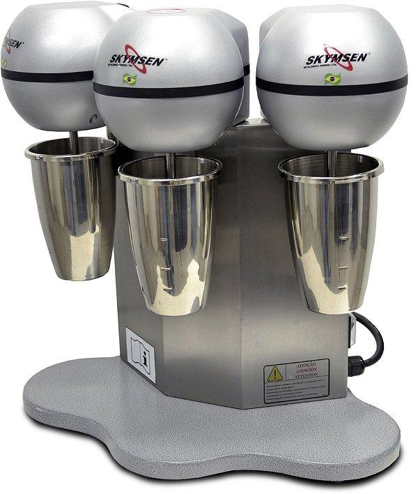 Batedeira de milk shake, em inox, 3 hasts / cada copo: 800ml (452009)