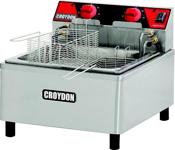 Fritadeira elétrica 12L (óleo) / 2 cestos / 41 x 50 x h 37cm / 8000w / 220v