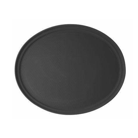 Bandeja oval preta / 56 x 68,5cm