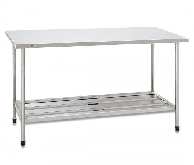 Mesa com prateleira gradeadas