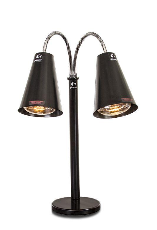 luminária aquecedora / double spot / 500w