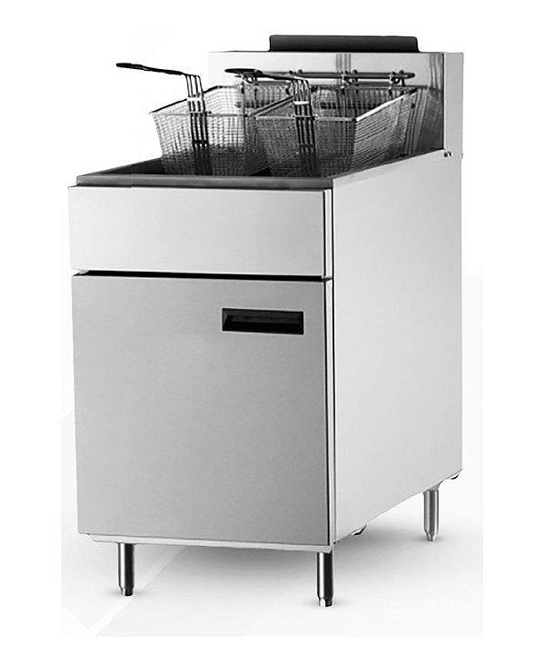 Fritadeira 23L gás a / inox / óleo / 102.000BTU/H