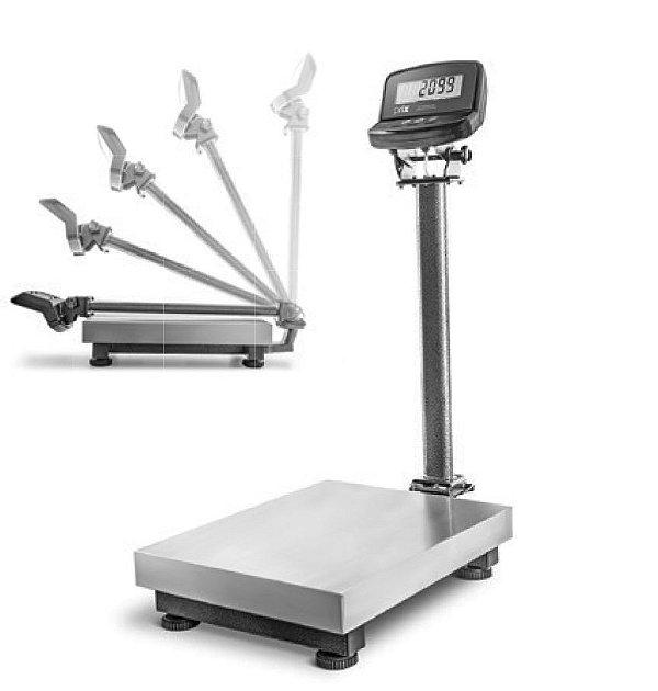 Balança 300kg / plataforma 50x50cm (com coluna)
