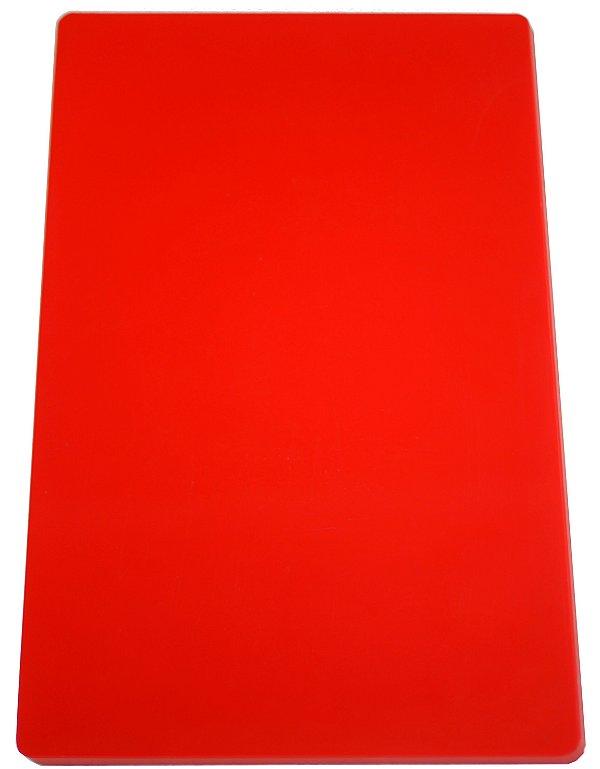 Placa em altileno / 10x500x300mm / vermelha