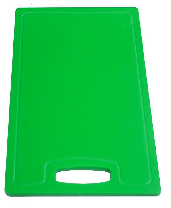 Placa em altileno / 15x500x300mm / verde / Canaleta