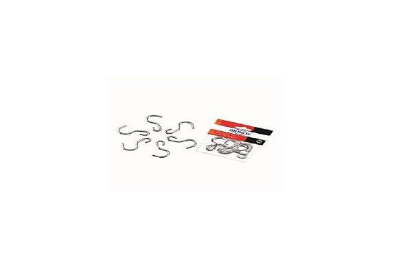 Conjunto de 6 ganchos em inox / pendurar utensílios