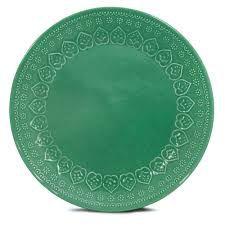 Corona Prato Raso Relieve Verde 26cm