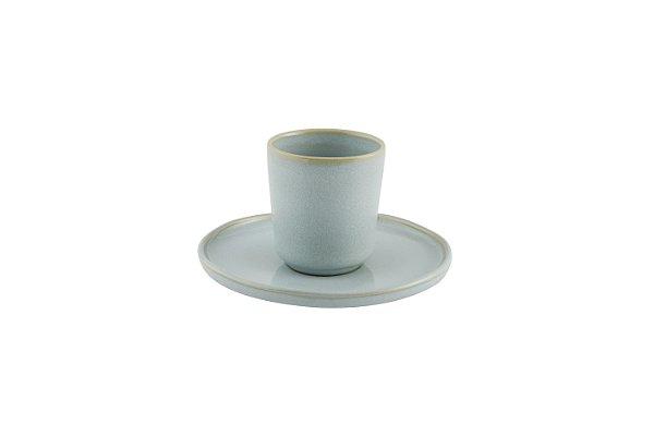 Xícara de Café sem asa com pires Terra Azul 90ml