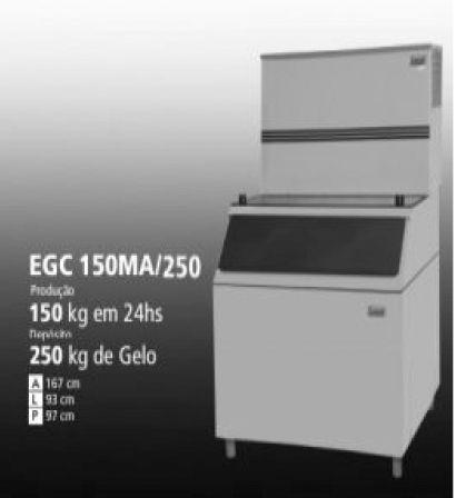 Maquina de Gelo EGC 150A  150Kg com Depósito de 250Kg  220V