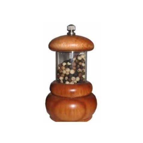 Moedor de pimenta / acrílico e madeira / Ø 6,2cm x h 11cm