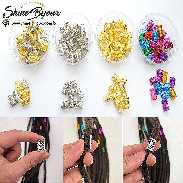 Anel para tranças box braids afro cabelo em alumínio
