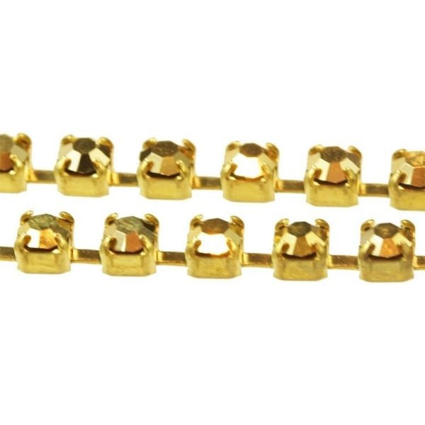 Strass em metro SS12 Aurum Gold (PP24 3,2mm)  STANDARD EGYPTIAN®