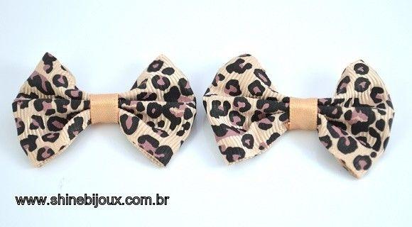 Laço de Gorgurão Onça 2,5x3cm Shine Beads®