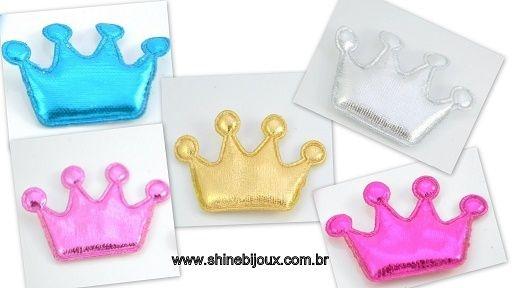 Coroa de Feltro Metalizada com 4 pontas 4x3cm Shine Beads®