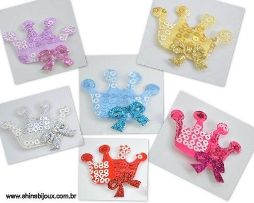 Coroa Bordada com 4 Pontas + Laço Shine Beads®