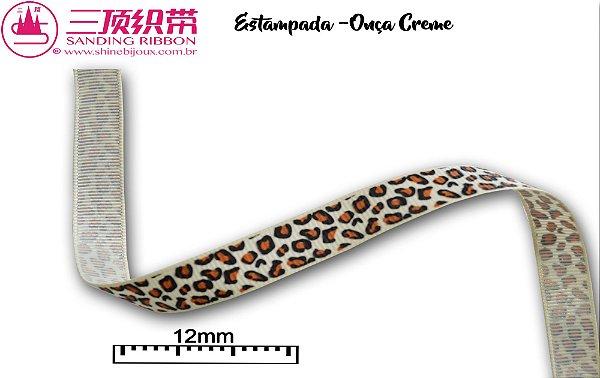 Fita Sanding® Gorgurão estampa onça Nº02/2 (12mm)