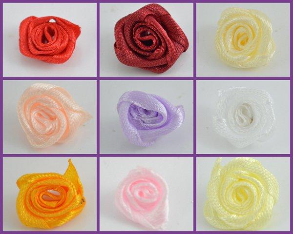 Flor de Cetim Rococó 12mm Shine Beads®