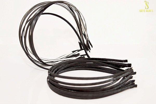 Tiara de Metal encapada com cetim sobreposto 130x5mm Shine Beads®