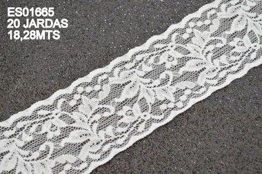 Renda Elastano 55mm para faixas e bordados Shine Beads®