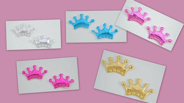 Coroa Aplique metalizada 5 pontas 3x1,5cm Shine Beads®