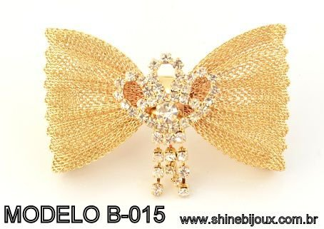 Laço aramado para chinelos e tiaras 6x3,5cm Shine Beads®