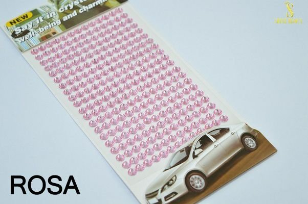 Strass Cartela auto colante 4mm acrílico Shine Beads®