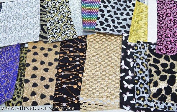 kit lonita retalhos variados pacote com 50 Grs ideal para laços e artesanatos (especial festa junina)