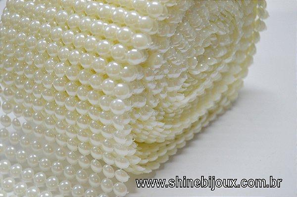 Meia pérola ABS em metro manta 8 mm Shine Beads ®