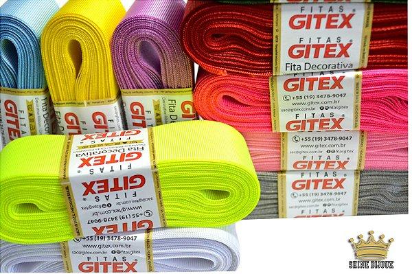 Fita gorgurão Lisa  Gitex® N˚03  (15mm) varias cores