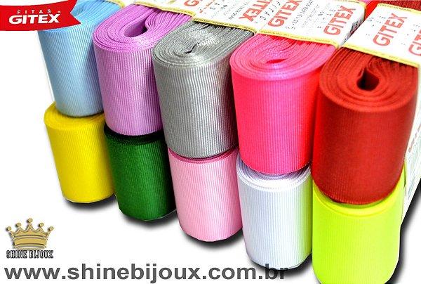 Fita gorgurão Lisa  Gitex® N˚01 (7mm) varias cores