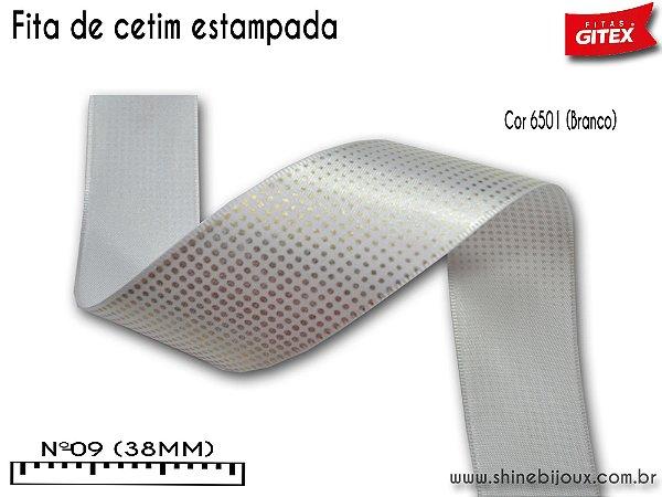 Fita cetim estampa POA 3D Gitex®  Nº09(38mm)