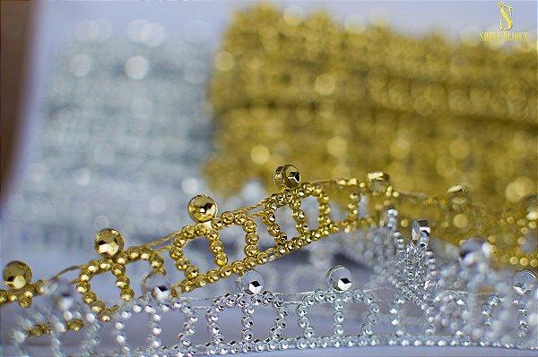 Aviamentos galão coroa destacável rolo 10 jardas  Shine Beads®