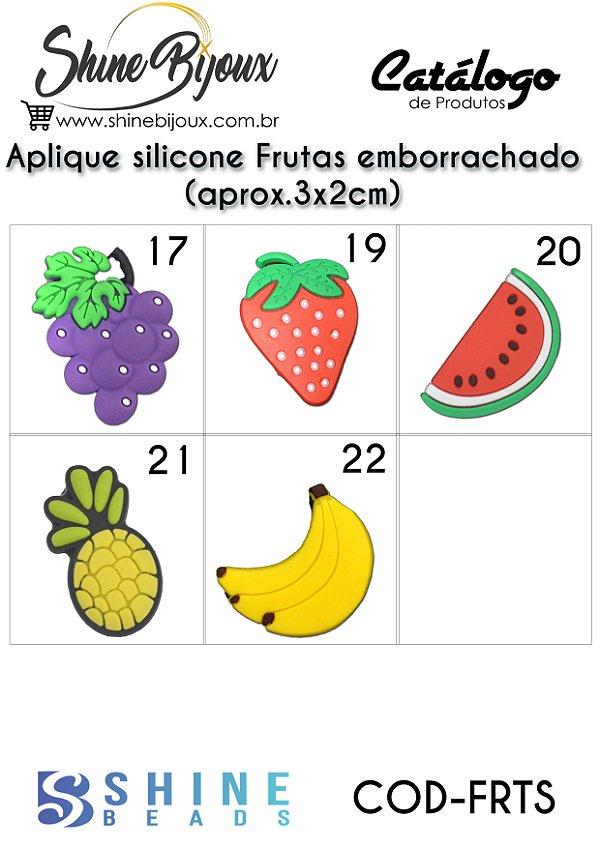 Aplique Frutas  emborrachado (aprox.3x2cm)