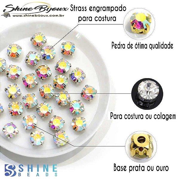 Strass engrampado para costura Shine Beads®  4/5/6/8 mm